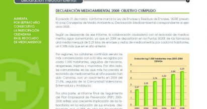 SIGRE Informa: Declaración medioambiental de SIGRE 2008. Objetivo cumplido