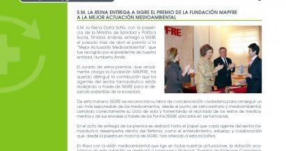 SIGRE Informa: Entrega del premio MAPFRE a SIGRE