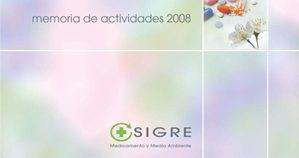 Editada la Memoria de Actividades de SIGRE 2008