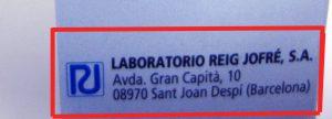 Dirección del laboratorio fabricante del medicamento