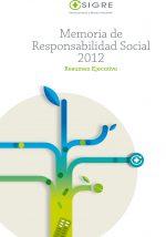 Memoria de Responsabilidad Social 2012 de SIGRE
