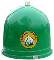 Contenedor verde de Ecovidrio