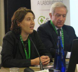 Cristina Sánchez, junto con Juan Carlos Mampaso