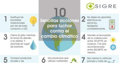 10 sencillas acciones para luchar contra el cambio climático