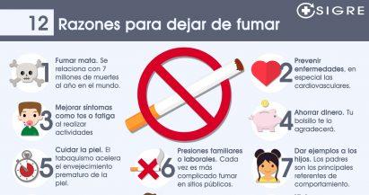 12 razones para dejar de fumar