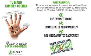 'Tu mano también cuenta', nueva campaña de comunicación de SIGRE